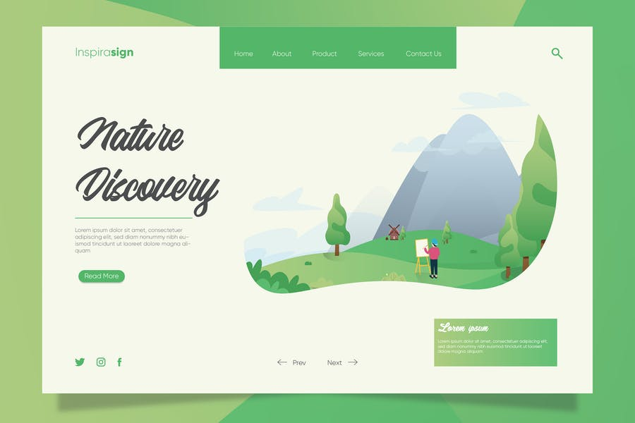 Discover Nature - Banner & Landing Page