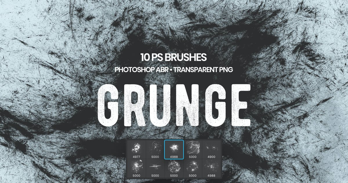 Download Grunge Photoshop Brushes by themefire