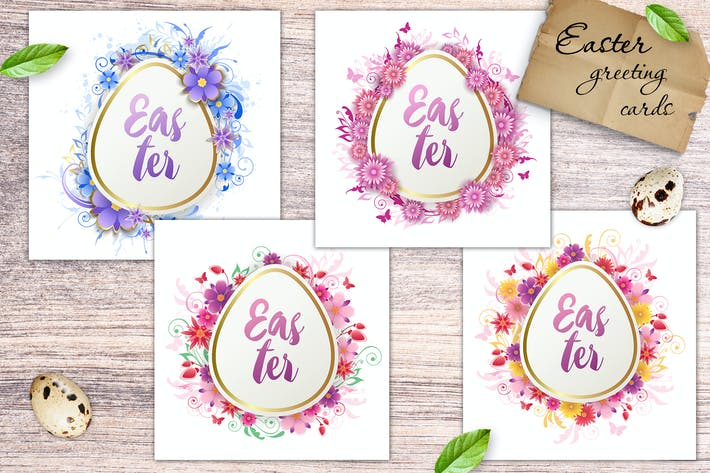 Thumbnail for Easter Floral Greeting Cards