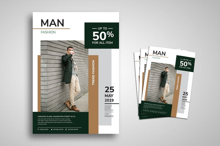 Cover Image For Men Fashion Promo Flyer
