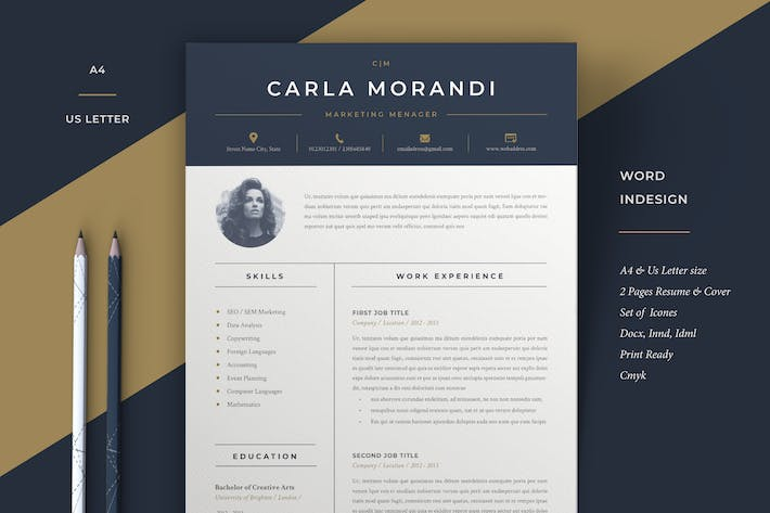 4533 Resume Templates Graphic Compatible With Adobe