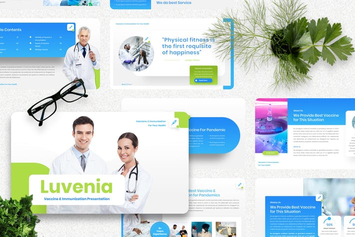 Luvenia - Шаблон вакцины Powerpoint