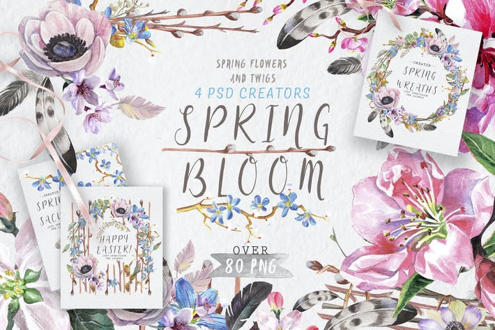 Thumbnail for Spring bloom set 80 PNG