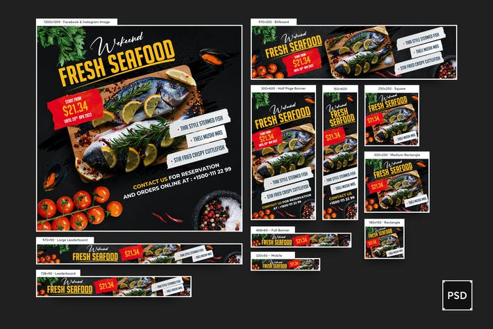 Thumbnail for Seafood Banners Ad