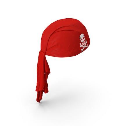 Roter Piraten-Schal