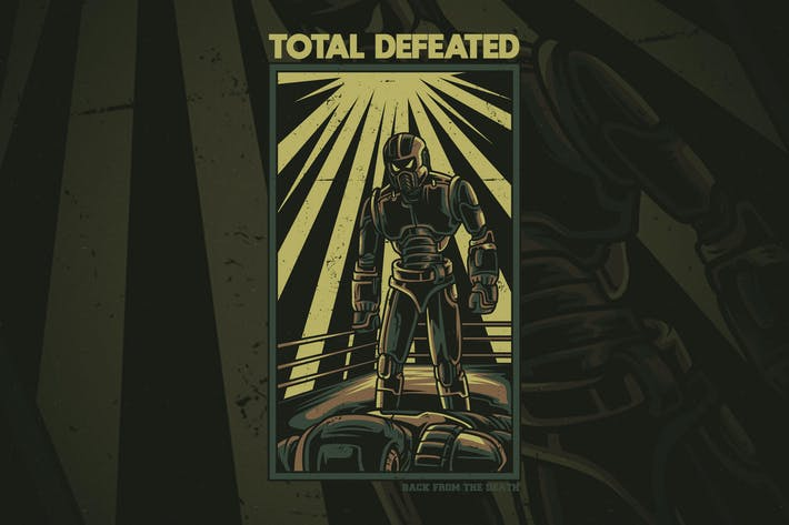Thumbnail for Total Defeated T-Shirt Design