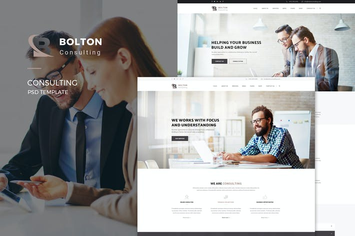 Thumbnail for Bolton : Consulting PSD Template