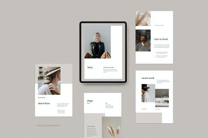 Thumbnail for KARA A4 Vertical Google Slides Media Kit Template