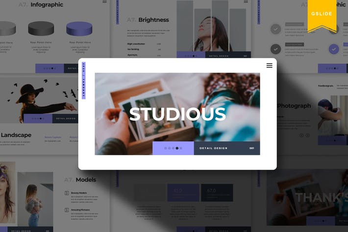Thumbnail for Studious | Google Slides Template