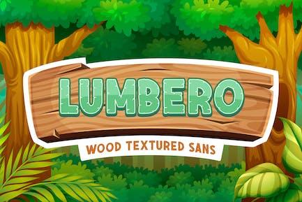 Lumbero - Wood Textured Sans
