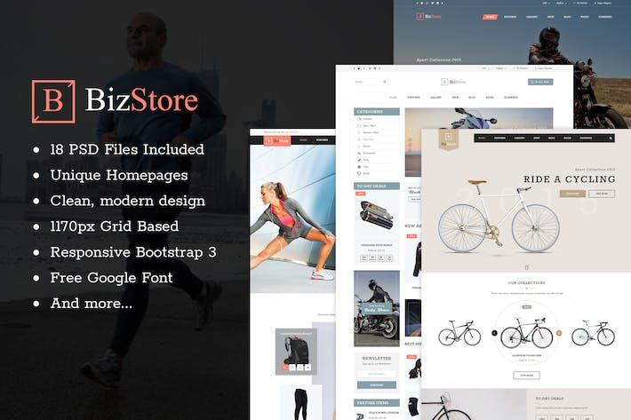Thumbnail for BizStore - Multipurpose eCommerce PSD Template