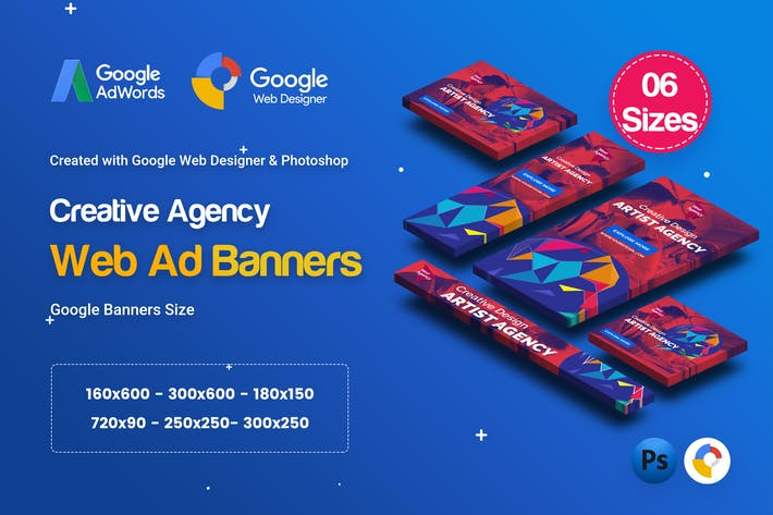 Thumbnail for C50 - Creative Agency Banners HTML5 Ad - GWD & PSD