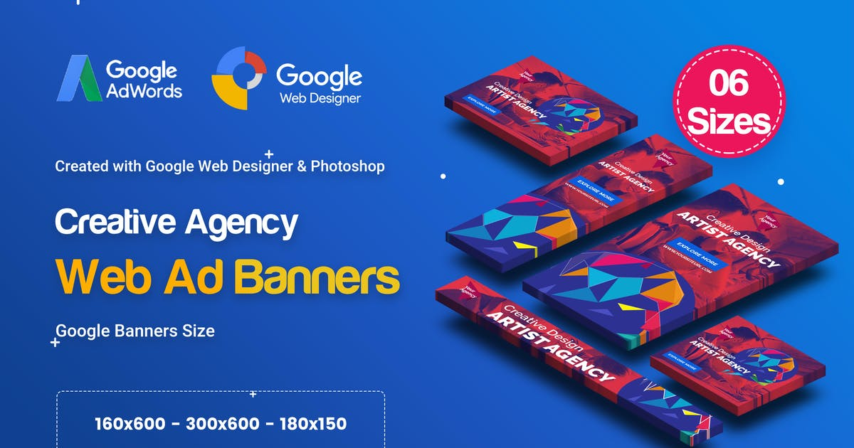 Download C50 - Creative Agency Banners HTML5 Ad - GWD & PSD by iDoodle