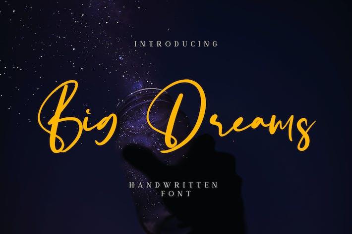 Thumbnail for Big Dreams - Handwritten Font YR