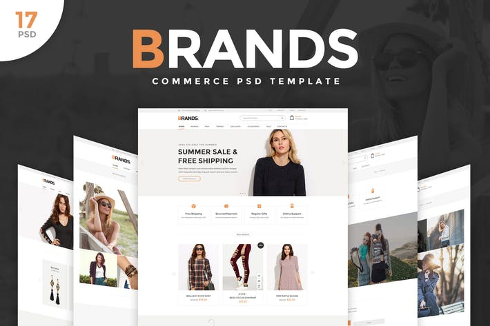 Thumbnail for Brands - Commerce PSD Template