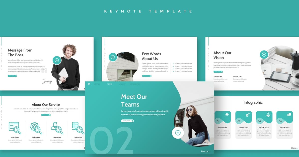 Download Blocca - Keynote Template by aqrstudio