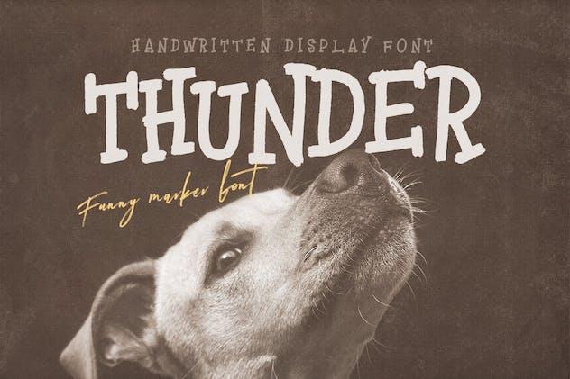 Thunder Handwritten Font