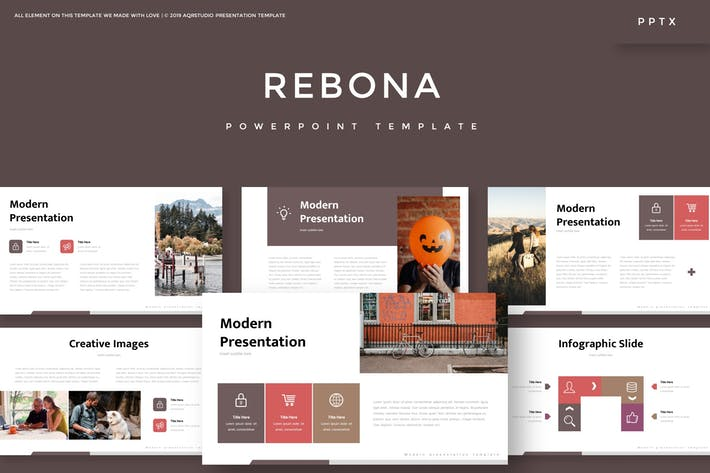 Thumbnail for Rebona - Powerpoint Template