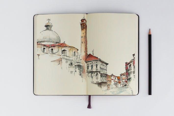 Thumbnail for Sketchbook Mockups