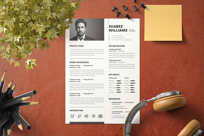 Thumbnail for Minimal Resume Template v..5