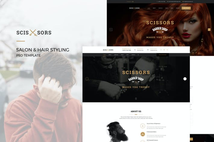Thumbnail for Scissors : Salon & Hair Styling PSD Template