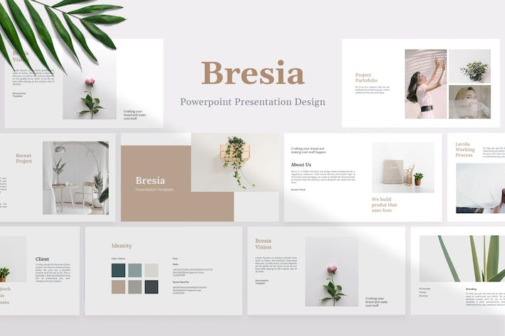 Thumbnail for Bresia - Project & Idea Powerpoint Template