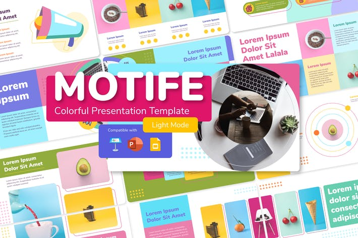 Thumbnail for MOTIFE (LIGHT) - Colorful Presentation Template
