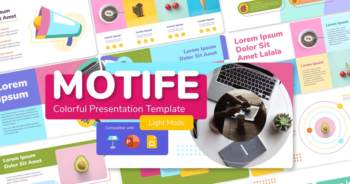 Download MOTIFE (LIGHT) - Colorful Presentation Template by inipagi