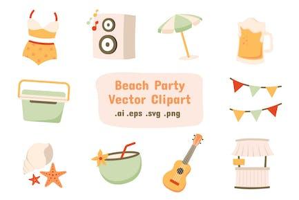 Beach Party Vector Clip Art
