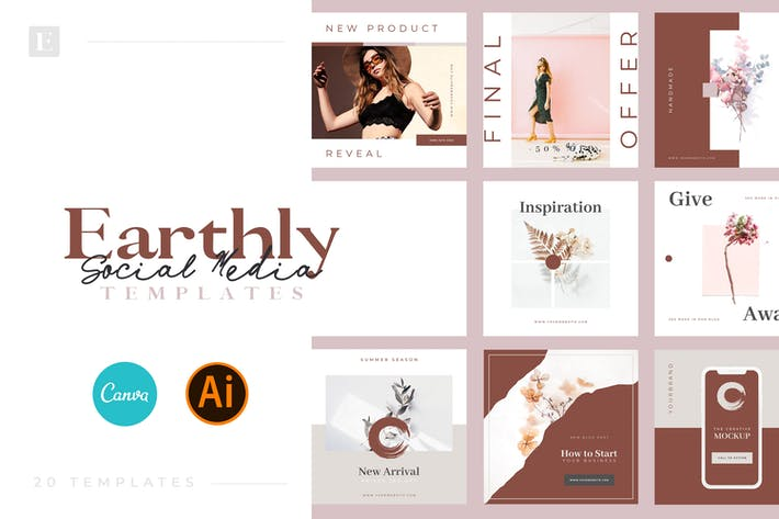 Thumbnail for Earthly - Social Media Templates