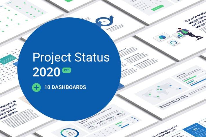 Thumbnail for Project Status 2020 PowerPoint