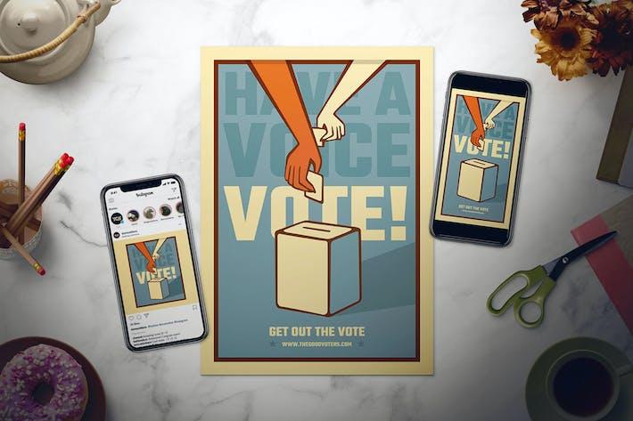 Thumbnail for Juego de Folleto del Día de las Elecciones Generales de Estados Unidos