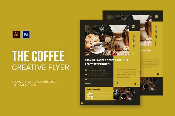 Thumbnail for Coffee Yellow Brown - Flyer