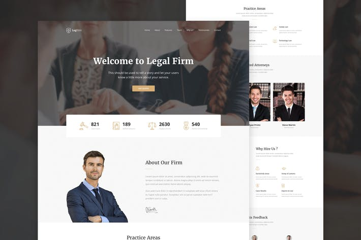 Thumbnail for Legfirm - Legal Firm Sketch Template