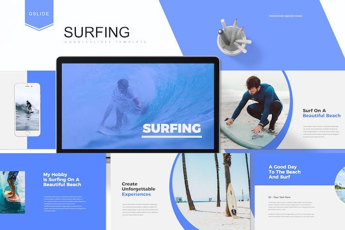 Thumbnail for Серфинг - Шаблон слайдов Google