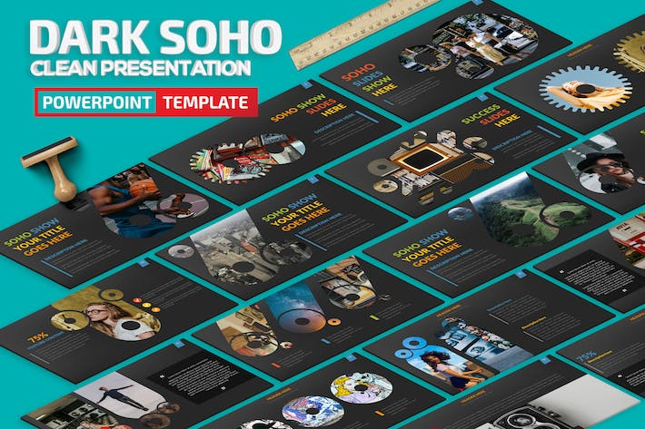 Thumbnail for Dark Soho Powerpoint Presentation