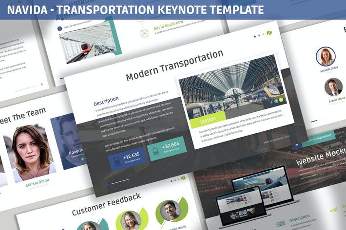 Thumbnail for Navida - Transportation Keynote Template