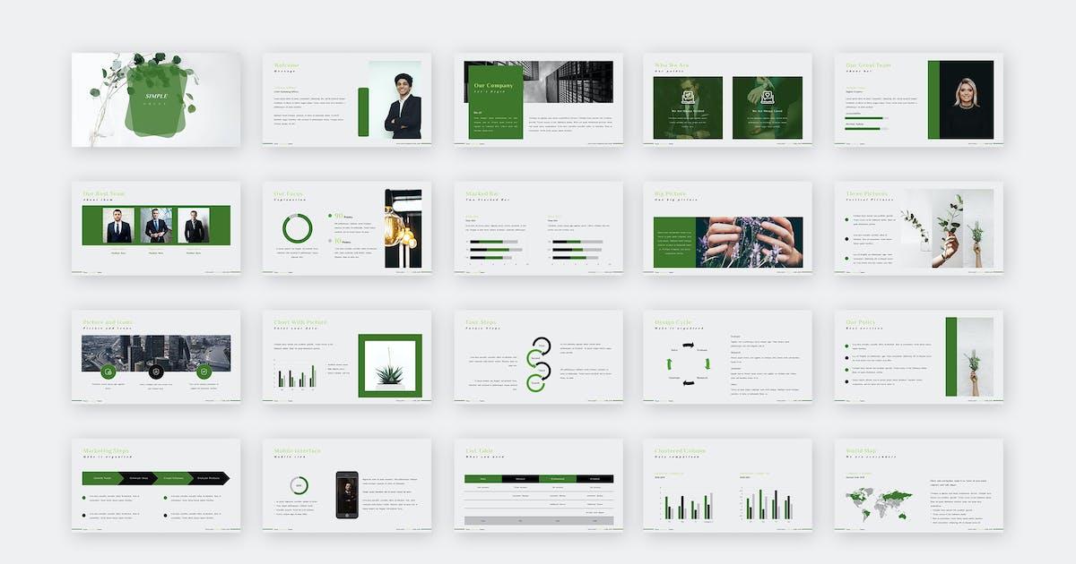 Download SIMPLE GREEN PRESENTATION. by celciusdesigns
