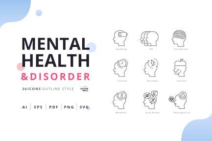 Psychische Gesundheit & Störung Gliederung Style Pack