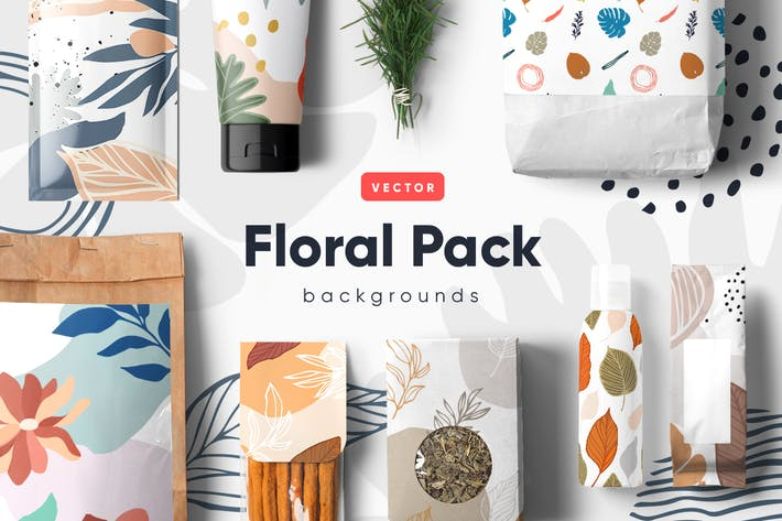 Thumbnail for Floral Backgrounds & Patterns