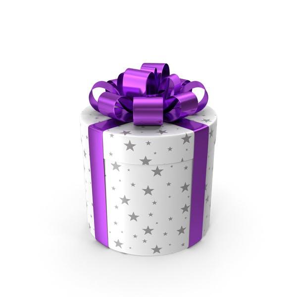 Caja de regalo cilíndrica.