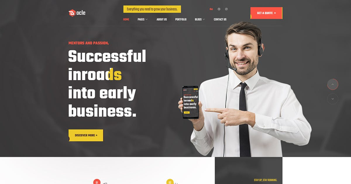 Download Docle - Agency Services HTML Template by themesflat
