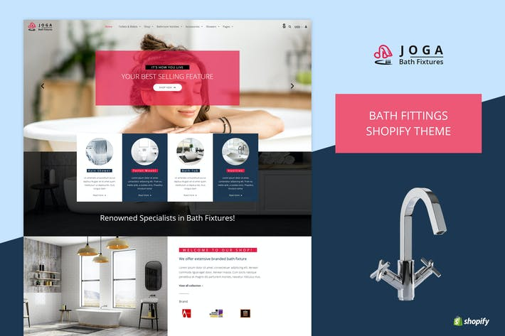Cover Image For Joga | Bath Fittings Shopify Theme
