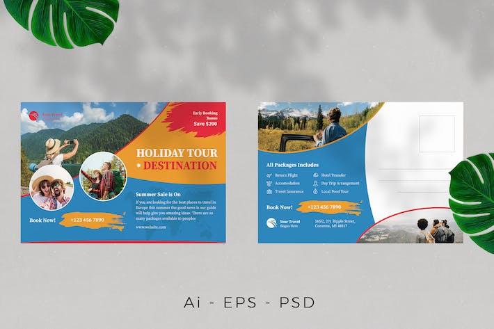 Tour Travel Postcard Design