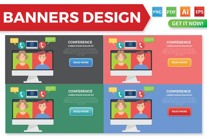 Thumbnail for Video Conference banners design