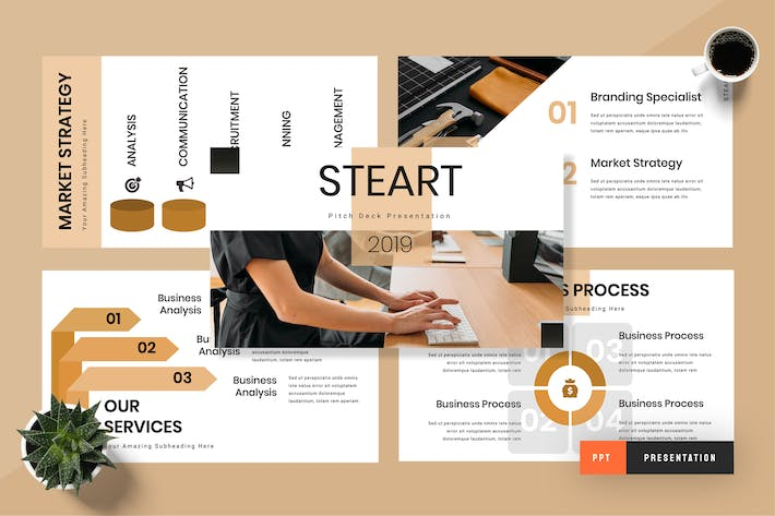 Cover Image For Steart - Pitch Deck Powerpoint Presentation