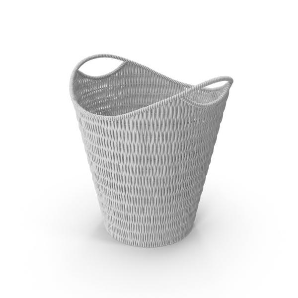 Плетеная бумажная корзина