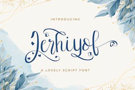 Jerhiyof - Lovely Script Font
