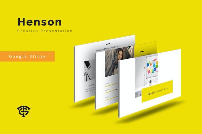 Cover Image For Henson Creative - Google Slides