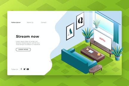 Unterhaltung - Banner & Landing Page